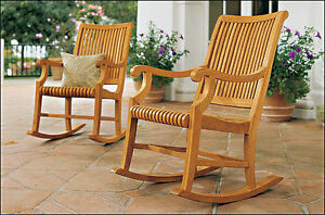 ROCKER CHAIR - A GRADE TEAK GARDEN OUTDOOR FURNITURE PATIO - GIVA COLLECTION