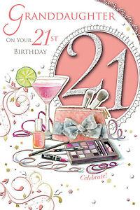 Image Is Loading XPRESS YOURSELF 21 TODAY GRANDDAUGHTER 21ST BIRTHDAY CARD