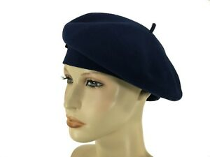 bf4d0381b Details about Laulhere 100% Wool French Beret Hat Coco Blue with Bow Made  In France 7 -7 1/8