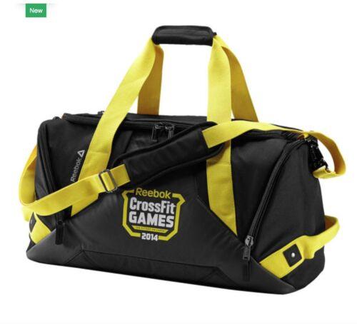 RR BNWT Mens Women/'s Reebok Crossfit Games Grip Duffel Bag CF 2014 Black Large