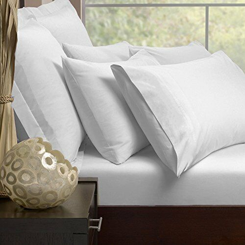 High Quality 400 TC Genuine Egyptian Cotton Flat Sheets in Weiß