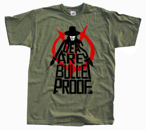5XL 100/% coton v7 V pour Vendetta T-shirt Dystopian politique Thriller Noir S