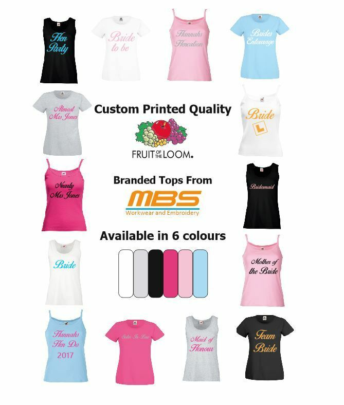 Hen Party T-Shirt Tank Top Bride Bridesmaids Night Do Custom Print Personalised