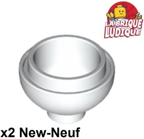 Lego 2x brique ronde brick round dome bas bottom 2x2 15395 blanc//white NEUF