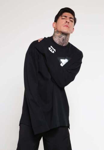 Puma Fenty by Rihanna L//S Graphic Crewneck T-Shirt Black Oversized Size XS M L