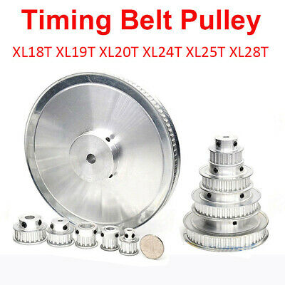 Timing Belt Pulley XL10T-XL25T Synchronous Wheel Selectable Bore For 3D Printer