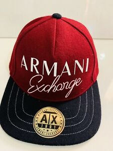 8193a3bb Image is loading New-Armani-Exchange-AX-Mens-EMBROIDERED-SCRIPT-LOGO-