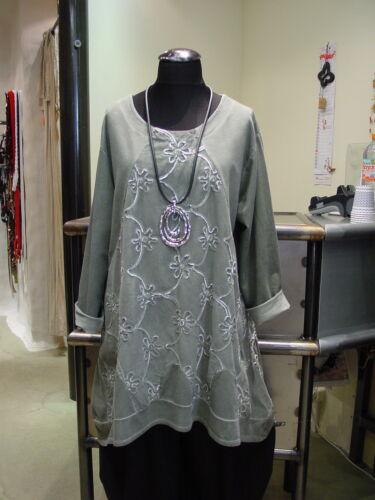 Moonshine Fashion° Lagenlook CORD Zipfeltunika A-Linie ~ Kahki ~ 2 3