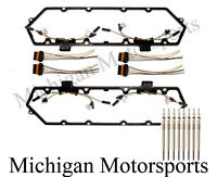 94-97 Ford Powerstroke 7.3 Valve Cover Gasket, 8 Glow Plugs, Injector Harness