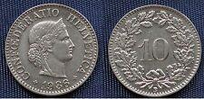 MONETA COIN MONNAIE HELVETIA SUISSE SWITZERLAND SVIZZERA - 10 RAPPEN 1936 -   #1