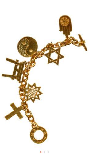 Agatha Paris Vintage Gold Charm Bracelet