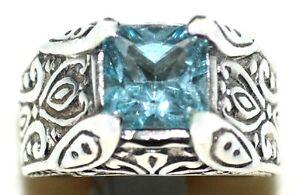 925 Sterling Silver Vintage London Globe Design Mens Ring Size 9 34