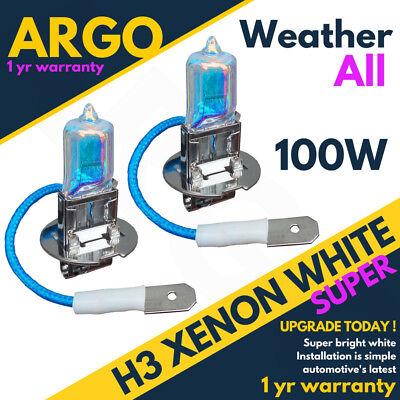 H3 100w Lumière Xénon Halogène Transparent 453 Phare Feux Anti Brouillard Bulbes