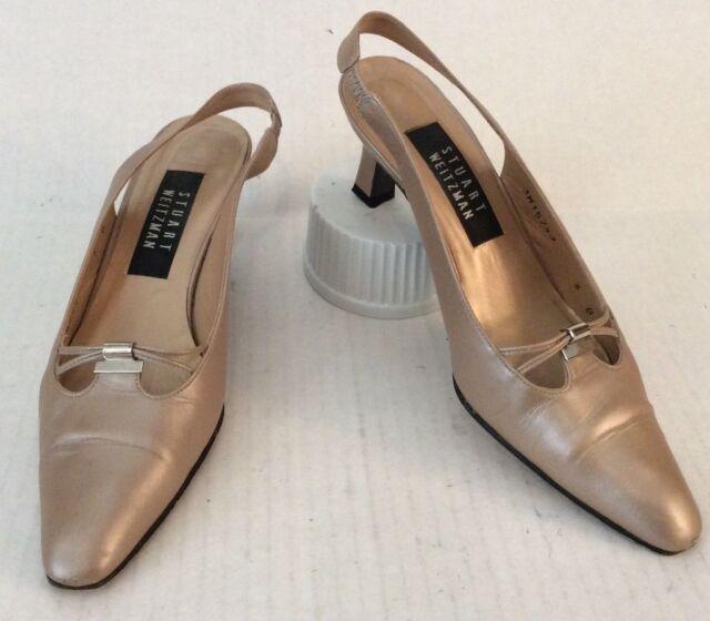 Stuart Weitzman Shoes Women's 6B Gold Bronze Katz Sling