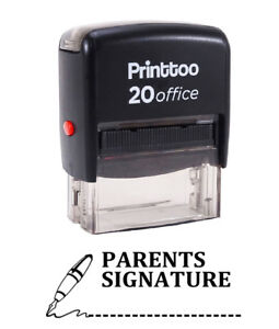 Image Is Loading Printtoo PARENTS SIGNATURE Self Inking Rubber Stamp Office