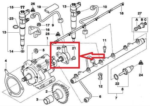 BMW serie 5 7 3 X5 2.5 3.0 330 D XD de la válvula de control de regulador de presión bomba de combustible
