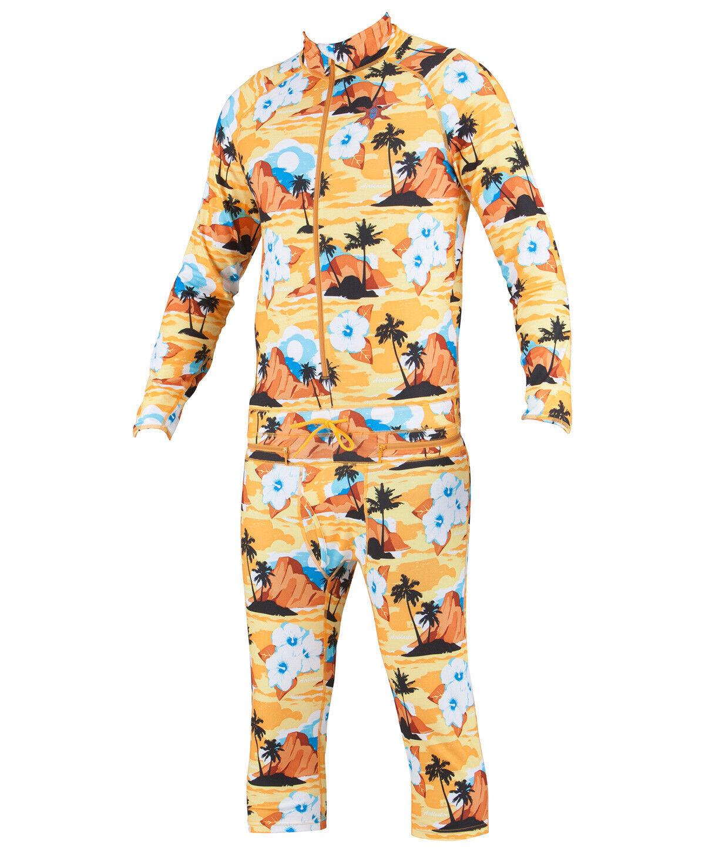 BRAND NEW WITH TAGS AIRBLASTER Hoodless Ninja Suit HAWAIIAN Gold MEDIUM-2XLARGE