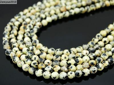 Natural Gemstones 3.5mm ~ 4mm ~4.5mm Faceted Round Beads 15'' ~ 16'' Pick Stone