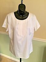 East 5th White Short Sleeved Polyester Shirt Large