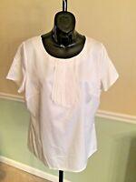 East 5th White Short Sleeved Polyester Shirt Large