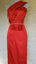 $4.5K NWT GORGEOUS NEW OSCAR DE LA RENTA RUNWAY LOVE RED SILK DRESS GOWN SIZE 0