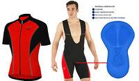 New Mens Cycling jersey Half Sleeve Biking Top +Quality Bib Short Racing Jersey