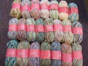 5-x-50g-Balls-of-Sirdar-Snuggly-Baby-Crofter-D-K-Wool-Yarn-for-Knitting-Crochet