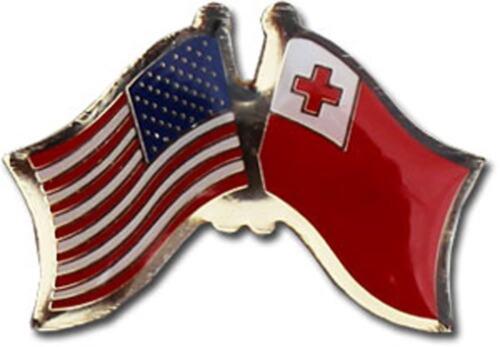 USA American Tonga Friendship Flag Bike Motorcycle Hat Cap lapel Pin