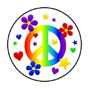 """ENVELOPE SEALS LABELS STICKERS 1.2/"""" ROUND 48 Peace Hand !"""
