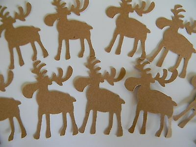25 Moose shaped Die Cuts -Hand punched- confetti, table decor scrapbooking