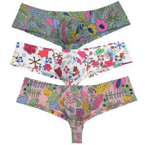 Men-Cotton-Mini-Cheek-Boxer-Briefs-Underwear-Guys-Brazil-Bikini-Thong-Trunk-Pant