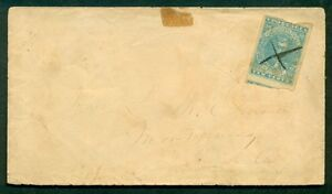 1860-s-Confederate-10-on-cover-with-manuscript-cancel-to-Montgomery-Alabama