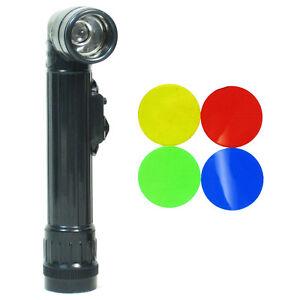US Armée Petit Vert Angle Droit LED Lampe de poche Olive TL-142 Flambeau