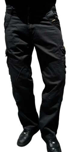 Mens Relaxed Fit 100/% Cotton Military Combat Cargo Army Pant WorkWear Trousers