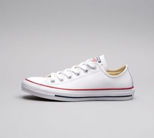 a8e321faba41 Womens Converse Chuck Taylor All Star Ox White Leather Trainers