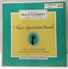 "Frank Schubert Symphony No.9 In C Major MARH 1835 10"" Record NM"