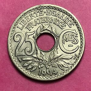 #494 - 25 Centimes 1914 Sup Facture