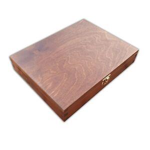 Holzkiste-27x21x5cm-IN-Braunem-Farbe