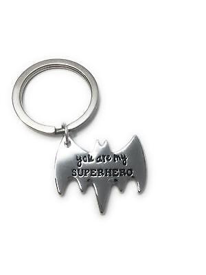 Pratico You Are My Superhero Shaped Keyring - Uk Stock Materiali Superiori