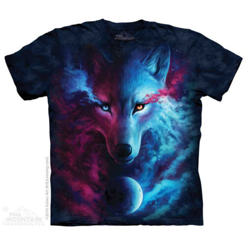 The Mountain Where Light And Dark Meet Wolf Space Galaxy Mens T Shirt 104963