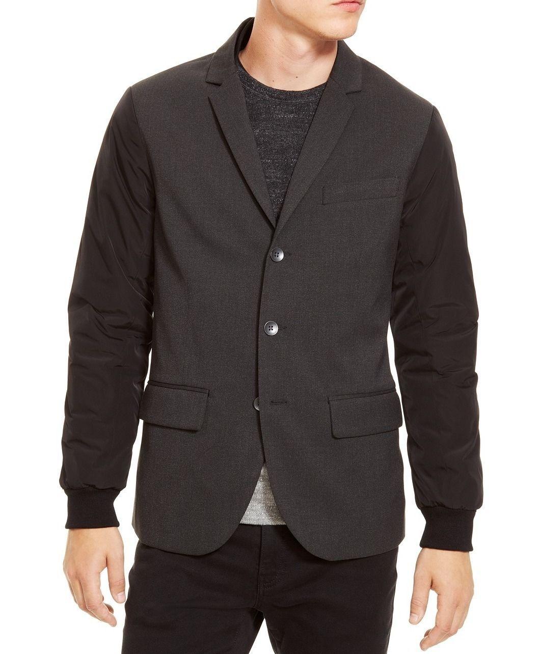 New Kenneth Cole Reaction Super Slim Fit Nylon Sleeve Blazer Sportcoat XL 47