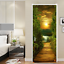 3D-Sunset-Wood-Bridge-Door-Wall-Mural-Wallpaper-Stickers-Vinyl-for-Bedroom thumbnail 3