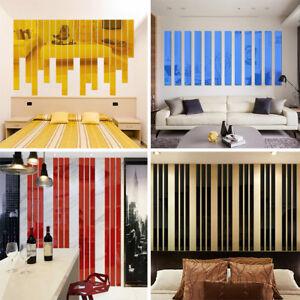 5PC-Rectangle-Acrylic-Bar-Mirror-Wall-Border-Sticker-Wallpaper-Home-Office-Decor
