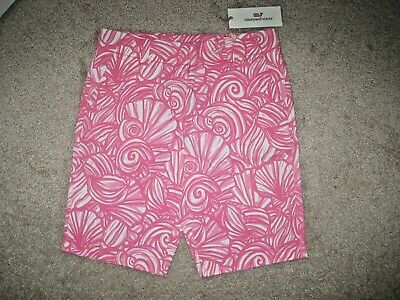 "NWT 12 Girls 10 Vineyard Vines /""Nautilus Shell Print/"" Stretch Island Shorts"