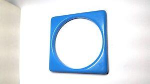 Blue-Square-Vintage-Lucite-Bangle-Bracelet-New-Old-Stock