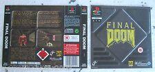 FINAL DOOM (1996) PLAYSTATION 1 COVER, NO DISCO