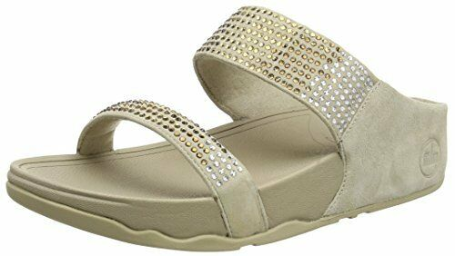 be226329f FitFlop Women s Flare Strobe Slide Sandals Pebble 7 M US for sale online