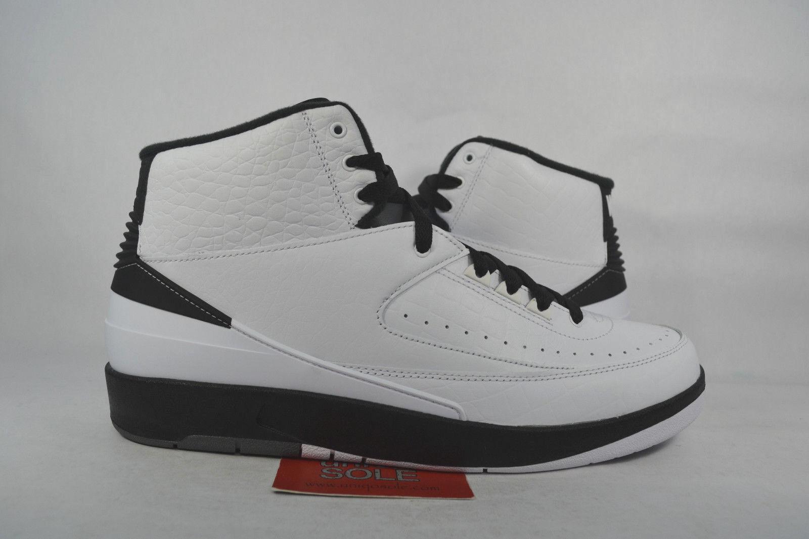 Nike air jordan ii 2 retro - - - flügel das schwarz - weiße 834272-103 sz 10,5 ds new in box 48ac8c