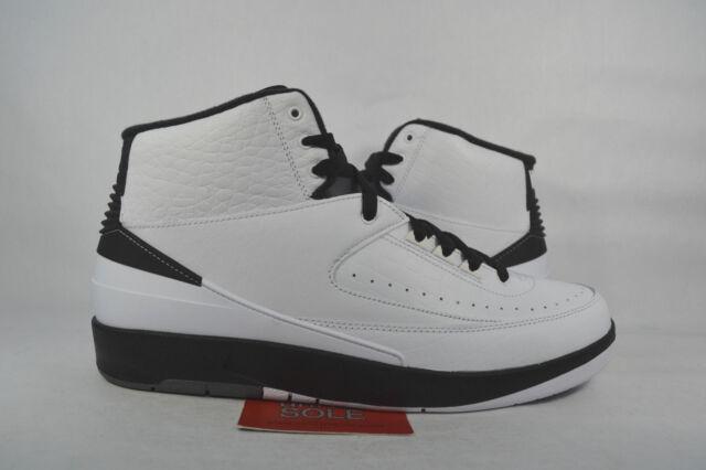 c08fc2ac1a087c Nike Mens Air Jordan 2 II Retro Wing It White Black 834272-103 Size ...