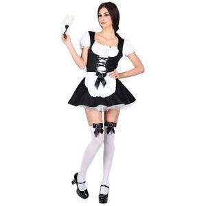 sconto speciale di design popolare più amato Dettagli su Costume Carnevale Donna Da Sexy Cameriera Vestito Abito Di  Halloween Per Adulto